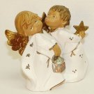 Kissing angels figurine Italy 4983 resin reluctant