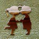 Vintage Cindy and John brass Christmas ornament kissing couple