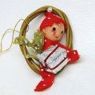 Vintage small elf pixie Christmas ornament