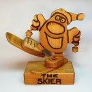 Vintage Don Mars Originals the Skier figurine hand crafted wood