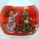 vtg Hallmark Granddaughter Christmas Ornament satin 1978 QX2163 never far from thought