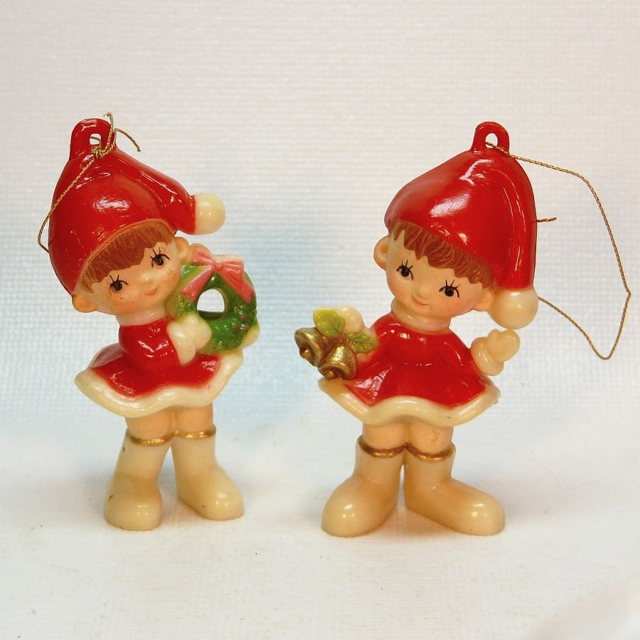 Vintage little girl christmas ornaments