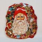 Old World style Santa tin Christmas ornament