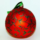 Large red and green Christmas ornament glass ball