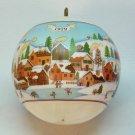 vintage Hallmark Love Filled Home Christmas ornament 1979 QX2127 satin ball