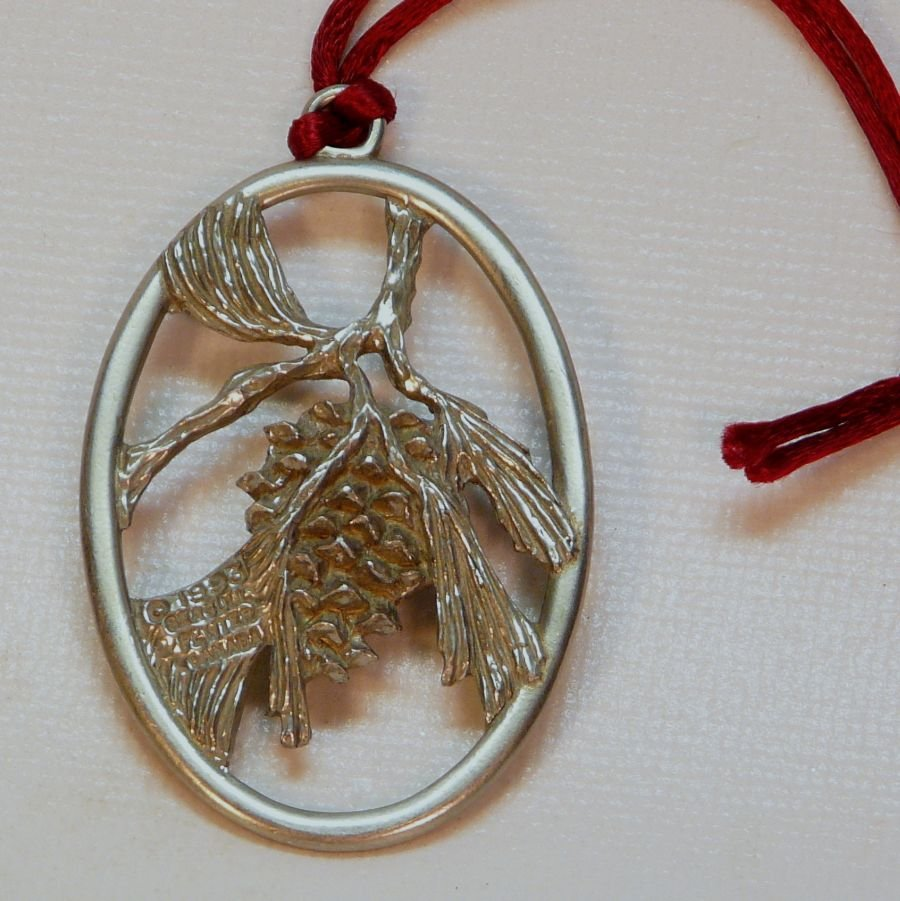 Christmas Ornaments For Sale Canada: Pewter Seagull Pine Cone Christmas Ornament 1993 Canada