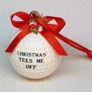 Golf Tees Me Off Christmas ornament golf ball