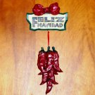 Feliz Navidad hot chili peppers wall hanging Christmas decor