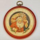 Vintage Hallmark 1982 Christmas plaque Merry Christmas to All Santa