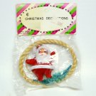 vtg Santa Christmas ornament original package Japan Colorama Designs