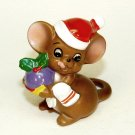 vintage Christmas mouse figurine