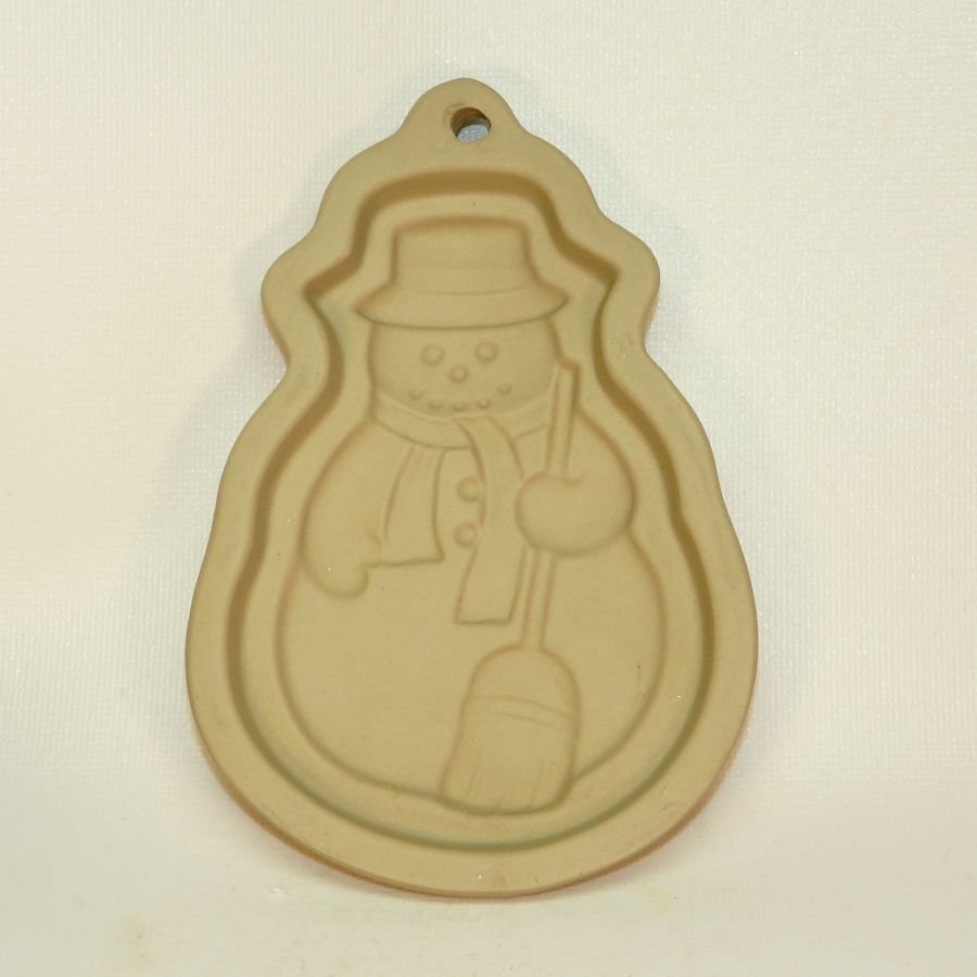 Snowman ceramic clay cookie mold