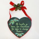 All Hearts Go Home for Christmas wall plaque wood hand crafted