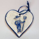 Farmer theme heart shaped Christmas ornament from Purple Cow handmade