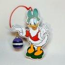 Vtg Daisy Duck w green bow the Disney Co and Kurt Adler wooden ornament