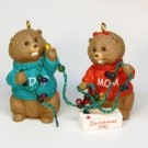 Vtg Hallmark 1992 Mom and Dad beaver Christmas ornament QX4671