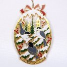 National Wildlife Federation chickadee bird brass Christmas ornament