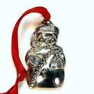 Vintage Gorham snowman silver plate Christmas ornament