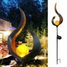 Elegant LED Solar Garden Flame Design Light