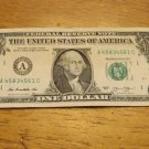 VERY FANCY SERIAL NUMBER 2013 ONE DOLLAR BILL A 45834561 C - RUN OF FOUR 3,4,5,6