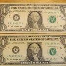 Rise & Fall of British Rule of Hong Kong on 2 One Dollar Bills 8/1842 & 7/1/1997