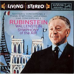 saint-saens franck liszt rubinstein wallenstein - symphony of the air CD 1993 BMG Direct used mint