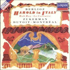 berlioz : harold in italy, zukerman / bratsche / dutoit (CD 1988 decca, used mint)