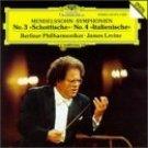 mendelssohn symphonien no.3 schottische / no.4 italienische, berliner phil. & levine (CD 1989 mint)