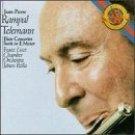 telemann flute concertos ; suite in E minor - jean-pierre rampal (CD 1987 CBS, used near mint)
