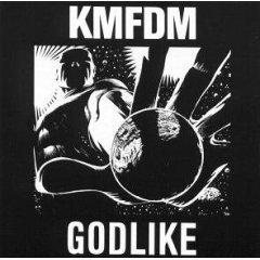 KMFDM : godlike, CD single, 1990 wax trax, 3 tracks, used near mint