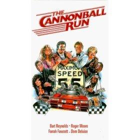 cannonball run starring burt reynolds, roger moore, farrah fawcett, dom deluise VHS HBO used mint