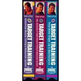 tony little : target training VHS 3-video set ITA parade used mint
