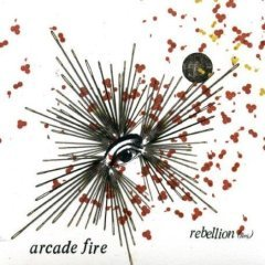 arcade fire - rebellion (lies) CD single 2004 rough trade 3 tracks used near mint