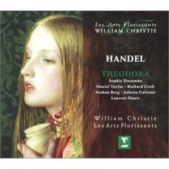handel - theodora : les arts florissants with william christie CD 3-disc box 2003 erato used mint