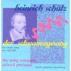 Schütz: Der Schwanengesang, SWV.482-493 the swan song CD 1997 celestial harmonies used mint