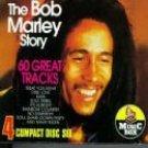 bob marley - bob marley story CD 4-disc set 1994 hughes leisure 60 tracks used very good