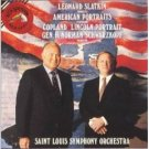 leonard slatkin conducts american portraits CD 1992 RCA used mint