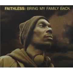 faithless - bring my family back CD single 1999 orange cheeky 6 tracks used very good