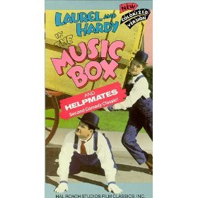 laurel and hardy in the music box and helpmates VHS 1986 hal roach colorized used