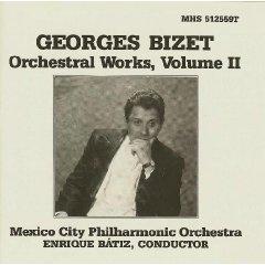 georges bizet - orchestral works volume II - MCPO with enrique batiz CD 1990 MHS mint