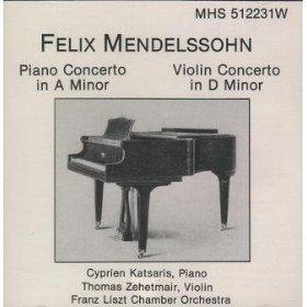 felix mendelssohn - piano concerto in a minor / violin concerto in d minor CD 1988 MHS mint