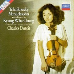kyung wha chung - Tchaikovsky & Mendelssohn violin concertos - dutoit CD 1983 decca london mint