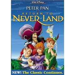peter pan in return to never land DVD 2002 walt disney72 minutes used mint