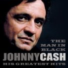 johnny cash - the man in black his greatest hits CD 2-disc set 1999 sony used mint barcode punched