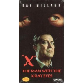 x the man with the x-ray eyes VHS 1994 orion color 79 minutes mint