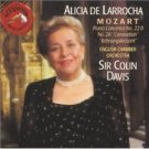 alicia de larrocha - Mozart: Concertos No. 22 & 26 with sir davis and ECO CD 1994 RCA BMG Dir.