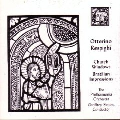 respighi - church windows brazilian impressions - simon & philharmonia CD 1987 MHS mint