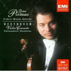 beethoven concerto for violin and orchestra in D, op.61 - itzhak perlman CD 1997 EMI BMG Dir. mint