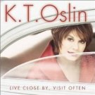 K.T. oslin - live close by visit often CD 2001 BNA used mint barcode punched