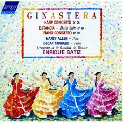 Ginastera - Harp Concerto, Estancia, Piano Concerto No. 1 - enrique batiz CD 1989 ASV used mint